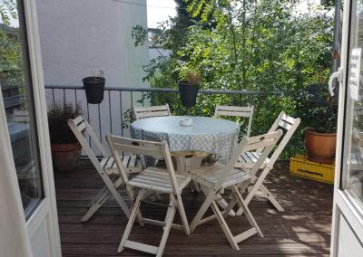 Balkon von Ferienwohnung A.73 und Gästehaus Bremen