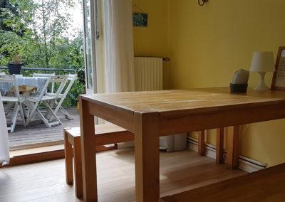 Küche und Balkon von Ferienwohnung A.73 und Gästehaus Bremen