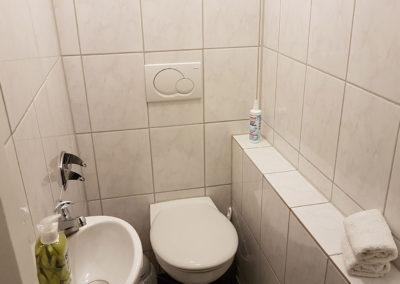 WC in Ferienwohnung A.73 und Gästehaus Bremen