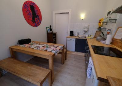 Küche von Ferienwohnung A.73 und Gästehaus Bremen
